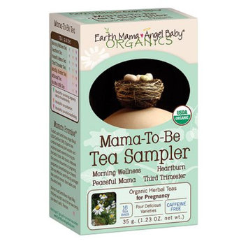 Earth Mama Angel Baby Organic Herbal Teas for Pregnancy Mama-to-Be Sampler