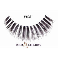 Red Cherry False Eyelashes (Pack of 10 pairs) (103)
