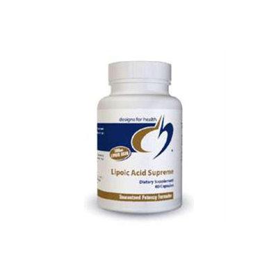 Designs For Health - Lipoic Acid Supreme - 60 Vegetarian Capsules