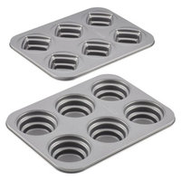 Cake Boss Specialty Nonstick Bakeware 2-Piece Round and Square Mini