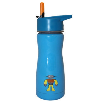 Eco Vessel Frost Kids Triple Insulated Stainless Steel Water Bottle w/ Straw Top