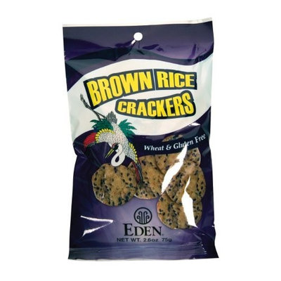 Eden Brown Rice Crackers, 2.6000-Ounce (Pack of 5)
