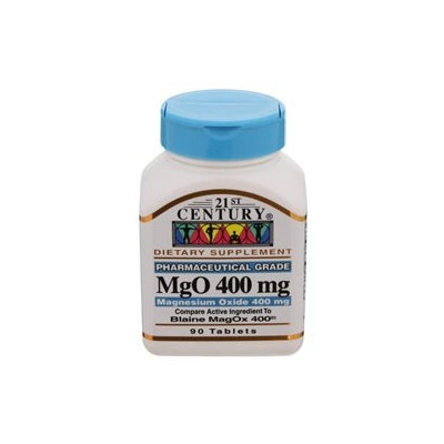 21st Century Healthcare MgO Magnesium Oxide 400 mg, 90 Tablets, 21st Century Health Care