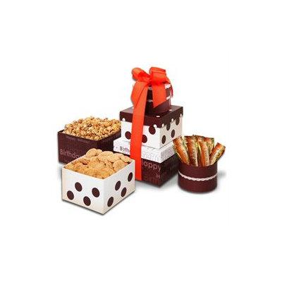 Stringer's Gift Baskets Alder Creek Gift Baskets Happy Birthday Goodie Treats Tower