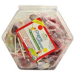 Yummy Earth Organic Fruit Lollipops Bin, 125 Count