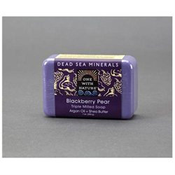One With Nature Triple Milled Soap Bar Blackberry Pear 7 oz