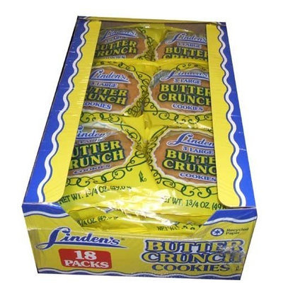 Linden Cookies Inc. Lindens Butter Crunch Cookies 18 Three - Cookie Packs