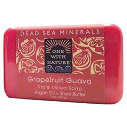 One With Nature Dead Sea Minerals Bar Soap Grapefruit Guava - 7 oz