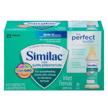Similac Supplementation Similac for Supplementation Ready-to-Feed - 2 fl oz bottles (8 pack)