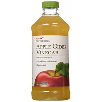 GNC SuperFoods Certified Organic Apple Cider Vinegar 16 fl oz (473 ml)