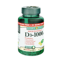 Nature's Bounty High Potency D3-1000IU Vitamin Supplement Softgels - 350 CT