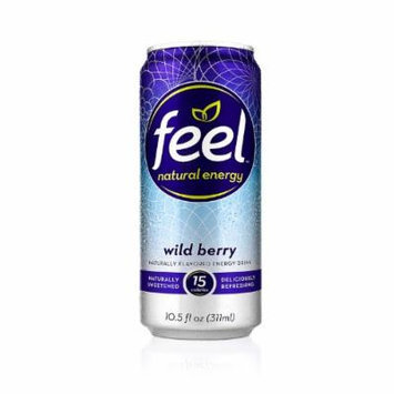 FEEL Natural Energy Drink Wild Berry (Pack of 12)
