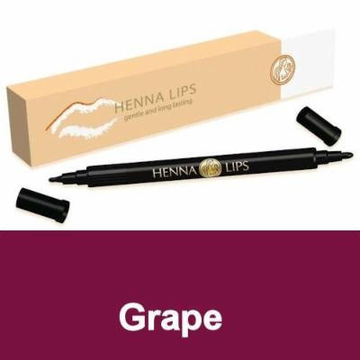 Natural Lip Stain, Henna Lips Lip Liner - Grape