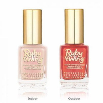 Ruby Wing Color Changing Solar Activating Scented Nail Polish Lily blossom to Orange