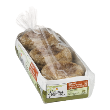 Nature's Promise Natural English Muffins Whole Wheat - 6 CT