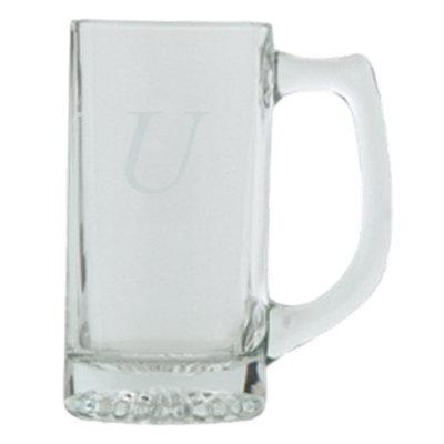 T&C Innovators Block Monogram Beer Mug Set of 4 - U