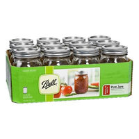 Sears, Roebuck And Co. Mason Jars, Regular Mouth, Pint (16 oz), 12 jars