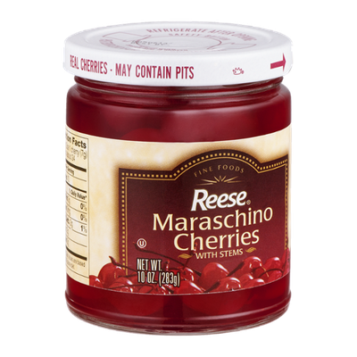 Reese Maraschino Cherries With Stems
