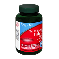 CareOne Triple Strength 1400mg Fish Oil Dietary Supplement