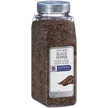 McCormick Culinary® Black Pepper, Table Grind