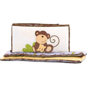 CoCaLo CoCo & Company Monkey Time Crib Bumper