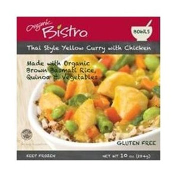 Organic Bistro, Bowl,organic,chicken,yellow Thai Curry, 10 Oz (Pack of 6)