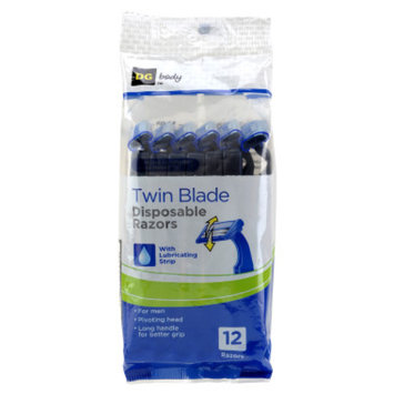 DG Body Men's Twin-Blade Pivoting Disposable Razors - 12 ct