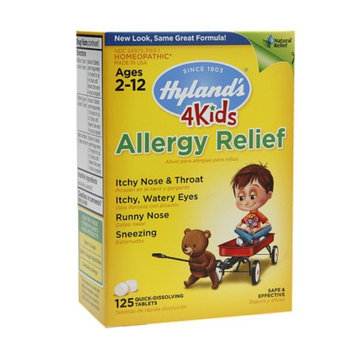 Hyland's 4 Kids Allergy Relief Quick-Dissolving Tablets, 125 ea