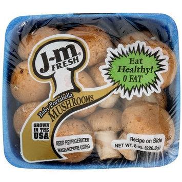 J-M Fresh: Mushrooms Baby Portabella, 8 Oz
