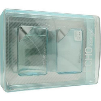Echo By Davidoff For Men. Set-edt Spray 3.4 oz & Aftershave Balm 3.4 oz