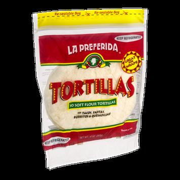 La Preferida Soft Flour Tortillas - 10 CT