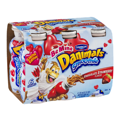 Dannon Danimals Be Mine Smoothie Chocolate Strawberry Flavor - 6 CT