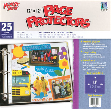 C-line C-Line Memory Book Top-Load Page Protectors, 12