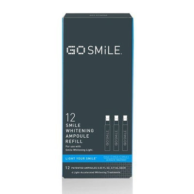GO SMiLE Whitening Light System, Ampoule Refill, 12 Count