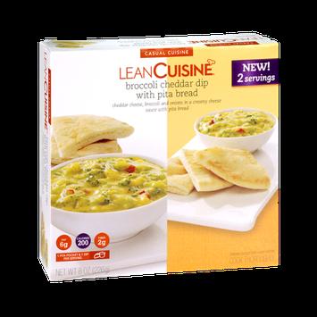 Lean Cuisine Broccoli Cheddar Dip with Pita Bread