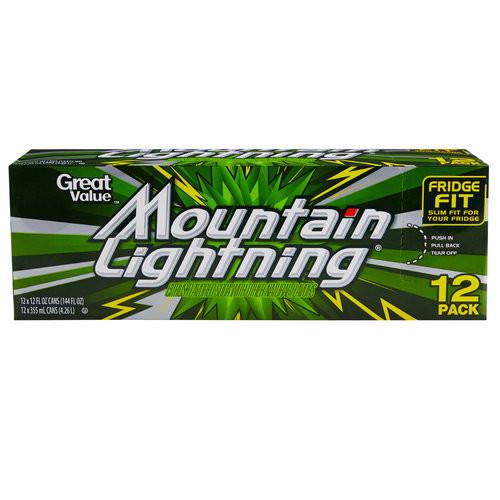Cott Beverages: Mountain Lightning Soda, 12 pk