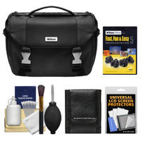 Nikon Deluxe Digital SLR Camera Case - Gadget Bag with Accessory Kit + Nikon School Instructional DVD - Fast, Fun, & Easy 5 Great Digital SLR Pictures & Movies for D5000, D3100, D3000