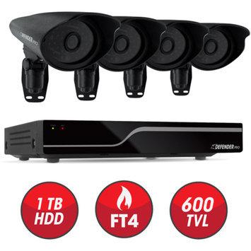 DEFENDER PRO Sentinel 8 CH Smart Security DVR with 4 Hi-Res Outdoor Security Cameras