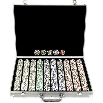 Trademark Commerce Trademark Poker 11.5g 4 Aces Poker Chip Set with Aluminum Case
