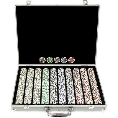 Trademark Commerce Trademark Poker 11.5g 4 Aces Poker Chip Set with Aluminum Case