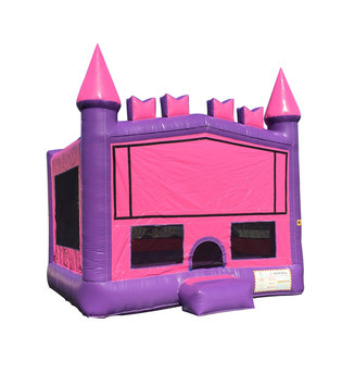 Jump Orange JumpOrange 15-foot Princess Brick Inflatable Bouncy Castle