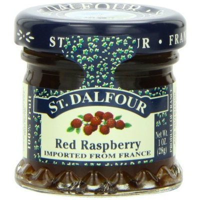 St Dalfour ST. DALFOUR Red Raspberry Conserves, 1 Ounce Jars (Pack of 48)