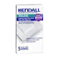 Kendall Telfa Antimicrobial Non-stick Pad with Adhesive, 4