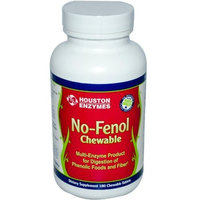 Houston Nutraceuticals No-Fenol Chewable, Multi-Enzyme, 180 Chewable Tablets
