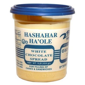 Hashachar White Chocolate Spread, 16-Ounce Tubs (Pack of 6)