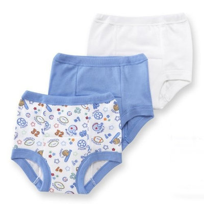 Gerber3 Pack Training Pants, Blue/White, 18 months