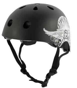 Kryptonics Step Up Skateboard Helmet - Matte Black
