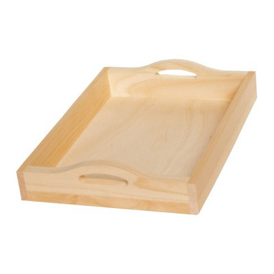 Walnut Hollow Pine Rectangle Serving Tray