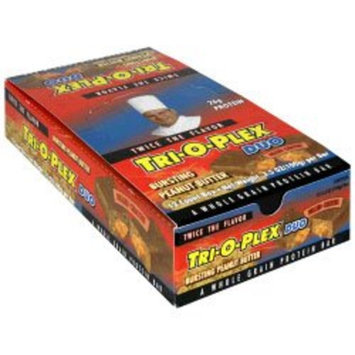 Chef Jay's Chef Jays Tri-O-Plex Duo Peanut Butter Bar - 12 x 100g/3.5oz Bars