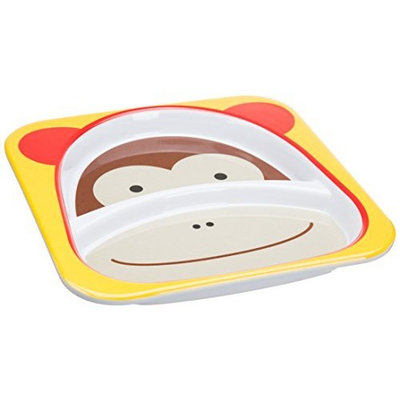 Skip Hop Zoo Divided Plate, Monkey